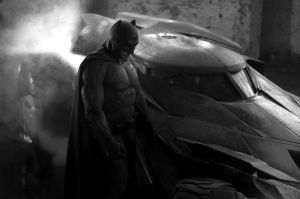 Batfleck Suit and Batmobile